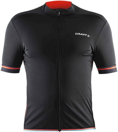 Craft kolesarska majica Classic, črno-oranžna, XXL