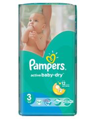 Pampers Pieluchy Active Baby Dry 3 Midi (54 szt.)