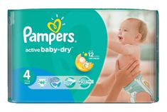 Pampers Pieluchy Active Baby Dry 4 Maxi (46 szt.)