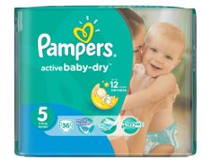 Pampers Pieluchy Active Baby Dry 5 Junior (36 szt.)