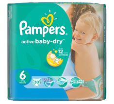 Pampers Pieluchy Active Baby Dry 6 Extra Large (30 szt.)
