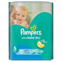 Pampers Pieluchy Active Baby Dry 5 Junior (42 szt.)