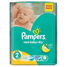 Pampers Pieluchy New Baby Dry 2 Mini Economy Pack (76 szt.)