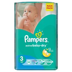 Pampers Pieluchy Active Baby Dry 3 Midi Economy Pack (68 szt.)