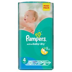 Pampers Pieluchy Active Baby Dry 4 Maxi Economy Pack (58 szt.)