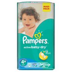 Pampers Pieluchy Active Baby Dry 4+ Maxi Plus Economy Pack (53 szt.)