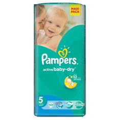 Pampers Pieluchy Active Baby Dry 5 Junior Economy Pack (50 szt.)