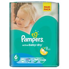 Pampers Pieluchy Active Baby Dry 6 Extra Large Economy Pack (42 szt.)