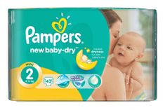 Pampers Pieluchy New Baby Dry 2 Mini (43 szt.)