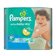 Pampers Pieluchy Active Baby Dry 4+ Maxi Plus (32 szt.)