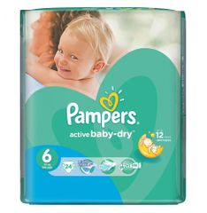Pampers Pieluchy Active Baby Dry 6 Extra Large (24 szt.)