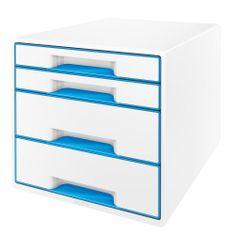 Box zásuvkový Leitz WOW 4 zásuvky modrý/bílý