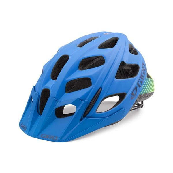 Giro Hex Mat Blue/Lime L (59-63 cm)