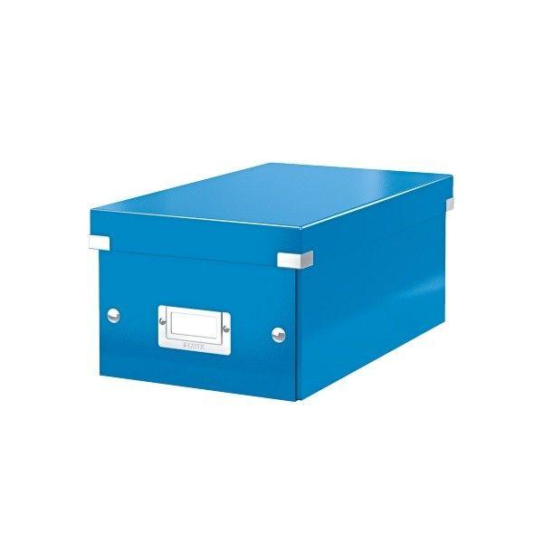 Krabice CLICK-N-STORE na DVD, modrá