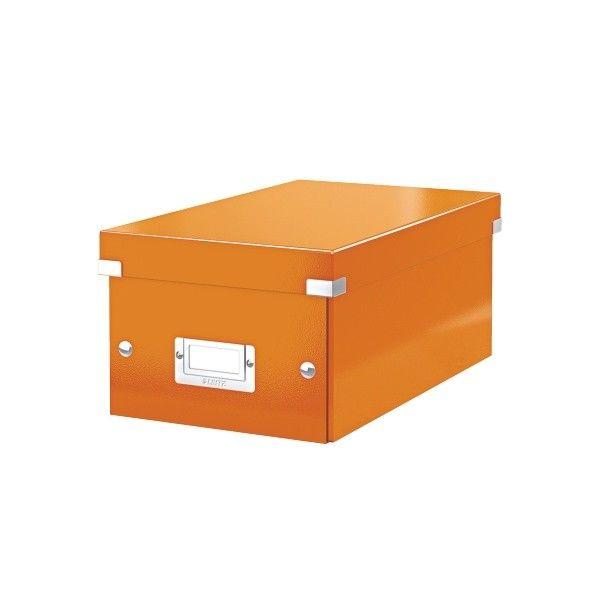 Krabice CLICK-N-STORE na DVD, oranžová