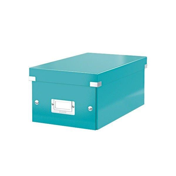 Krabice CLICK-N-STORE na DVD, led. modrá