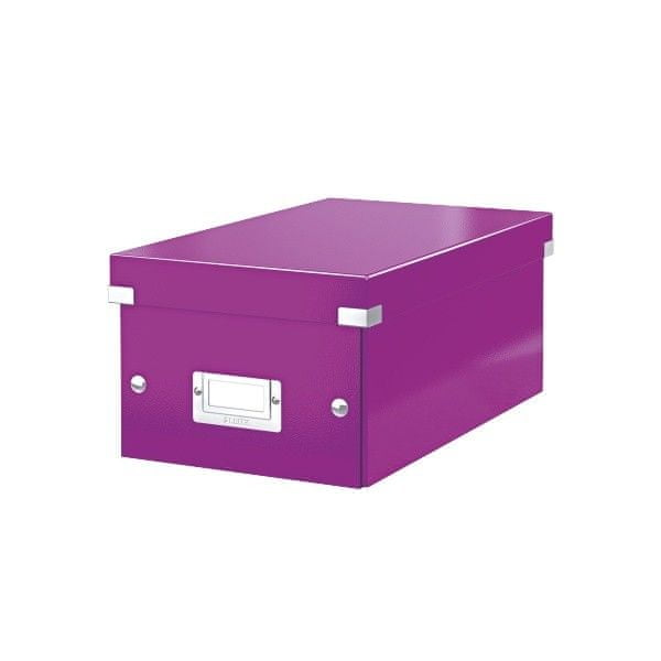 Krabice CLICK-N-STORE na DVD, purpurová