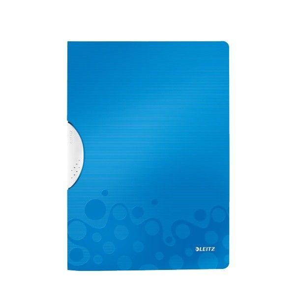Desky s klipem Leitz WOW metalicky modré