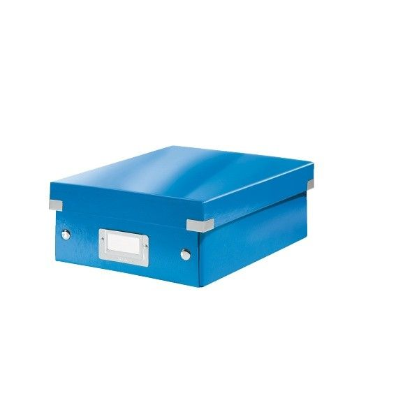 Krabice CLICK-N-STORE WOW malá organizační, modrá