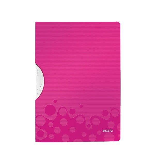 Desky s klipem Leitz WOW metalicky růžové