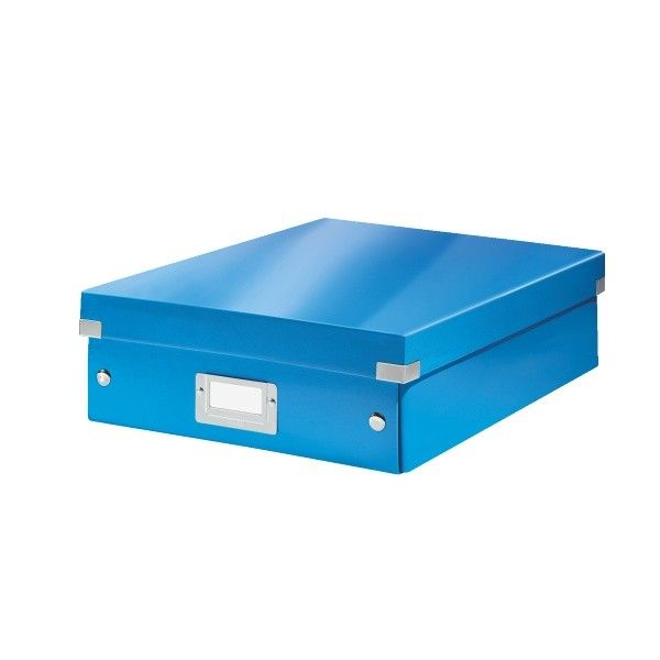 Krabice CLICK-N-STORE WOW střední organizační, modrá