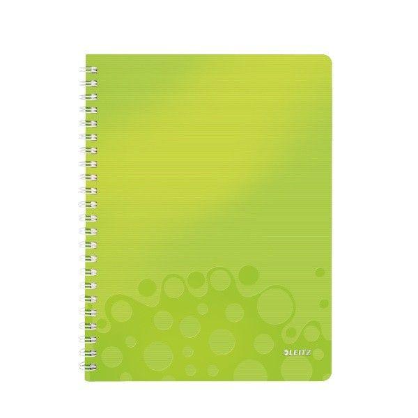 Blok na psaní Leitz WOW A4 čtverečkovaný metalicky zelený