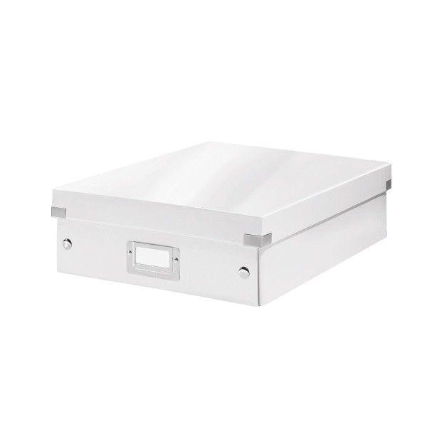 Krabice CLICK-N-STORE WOW střední organizační, bílá