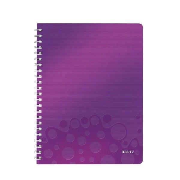 Blok na psaní Leitz WOW A4 čtverečkovaný purpurový