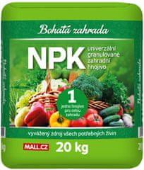 Bohatá zahrada NPK - Univerzalno gnojilo za vrt, 20 kg