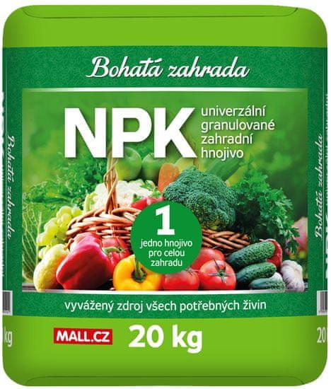 Bohatá zahrada NPK - Univerzální zahradní hnojivo 20kg