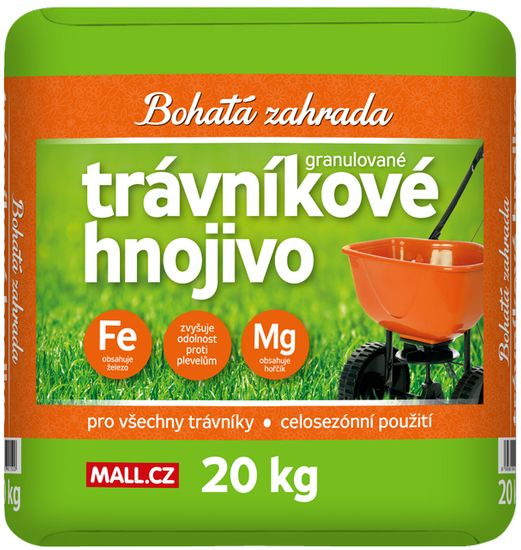 Bohatá zahrada gnojilo za travo, 20 kg