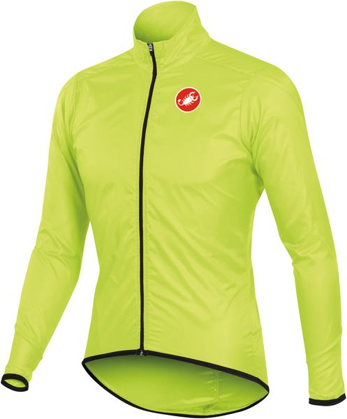 Castelli Squadra Long Jacket Yellow Fluo L