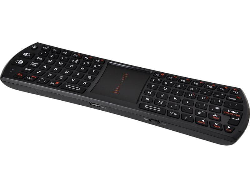 Sandberg StreamBoard Keyboard UK, bezdrátová klávesnice pro Smart TV, černá (460-21)