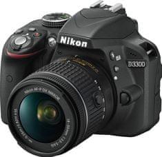 Nikon lustrzanka cyfrowa D3300 + 18-55 AF-P DX