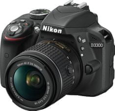 Nikon digitalni fotoaparat D3300 Kit + AF-P DX 18-55 VR