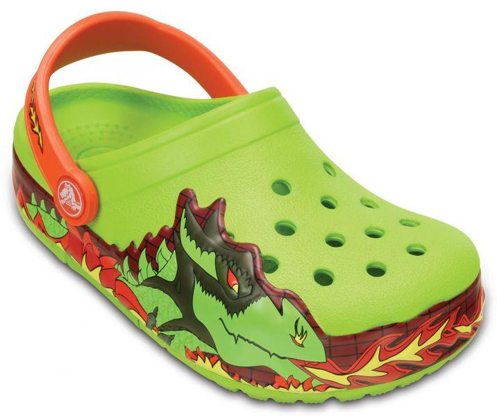 Crocs CrocsLights Fire Dragon Clog K Volt Green 24-25 (C8)