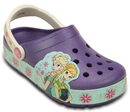 Crocs natikači CrocsLights FrozenFever, Blue Violet 23-24 C7