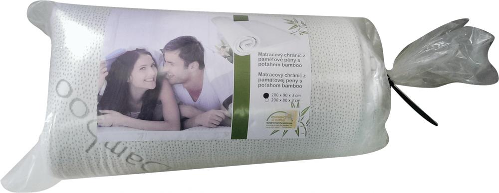 Viscopur Vrchní matrace bamboo 90 x 200 cm