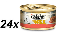 Gourmet Gourmet Gold govedina s paradižnikom, 24 x 85 g
