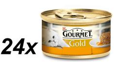 Gourmet Gold csirkés-sárgarépás macska konzerv - 24 x 85 g