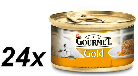 Gourmet Gold Savoury piščanec in korenje, 24 x 85 g