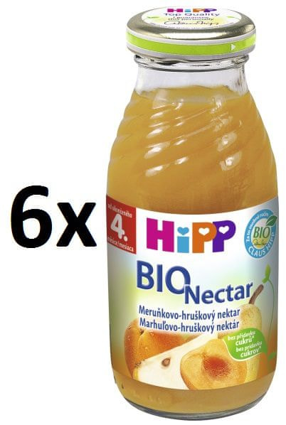 HiPP BIO Meruňkovo-Hruškový nektar - 6x200ml