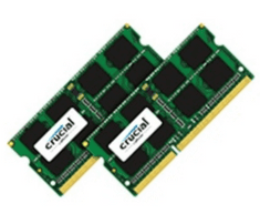 Crucial pomnilnik16GB KIT (8GBx2) DDR3L 1866 PC3-14900 CL13 SODIMM za prenosnike in Mac