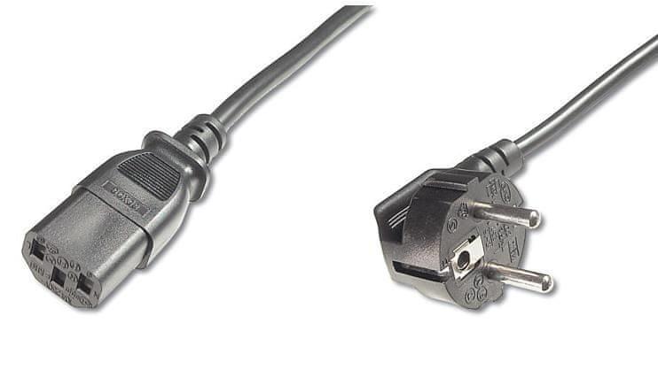 PremiumCord Kabel síťový 230V k počítači, 10 m