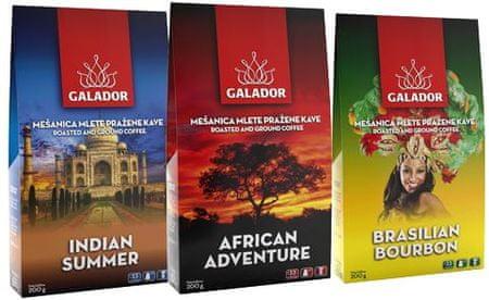 Galador Gourmet Mix mleta kava, 3 x 200 g