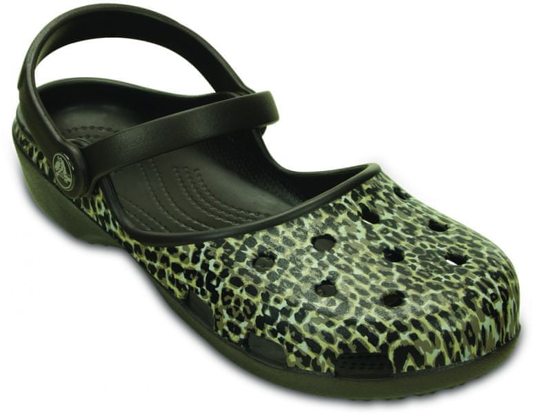 Crocs Karin Leopard Clog W Espresso 36-37 (W6)