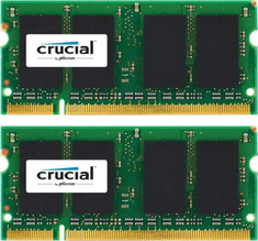Crucial pomnilnik 8GB KIT (4GBx2) DDR3L 1866 PC3-14900 CL13 SODIMM za prenosnike in Mac