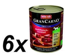 Animonda GranCarno Adult - multi mäsový koktejl 6 x 800g