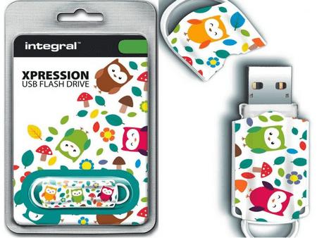 Integral USB ključek Xpression 16 GB USB 2.0, Owls