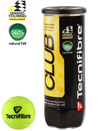 Tecnifibre tenis žogice Club 3